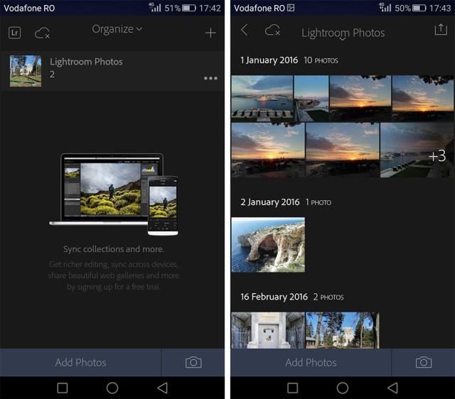 Adobe Lightroom pentru Android