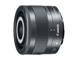Canon EF-M 28mm cu blitz LED frontal