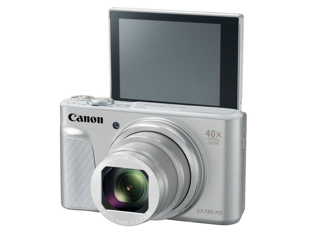 Canon SX730HS si ecranul LCD rabatabil in modul