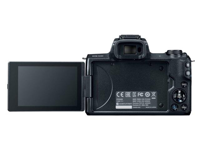 Canon EOS M50 cu ecran LCD rabatabil lateral