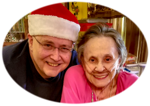 One of the last photos of my mother and I, taken during Christmas, about two months before she died.