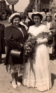 My mother and her mother when mom was a bridesmaid.