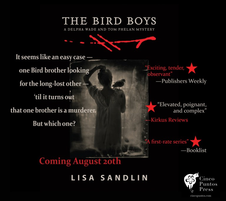 "Book meme: ""It seems like an east case - one Bird brother looking for the long-lost other - 'til it turns out that one brother is a murderer. But which one?"""