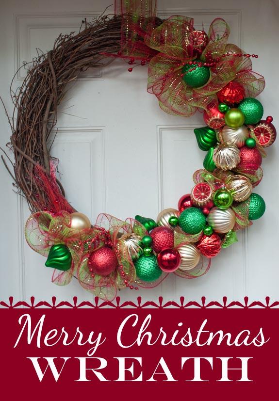 Diy Deco Mesh Christmas Wreath