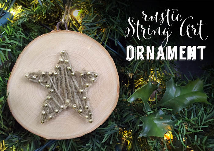 Rustic String Art Christmas Ornament The Perfect Rustic