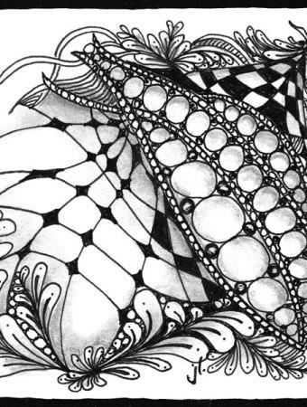 zentangle design by Sandy Batrholomew