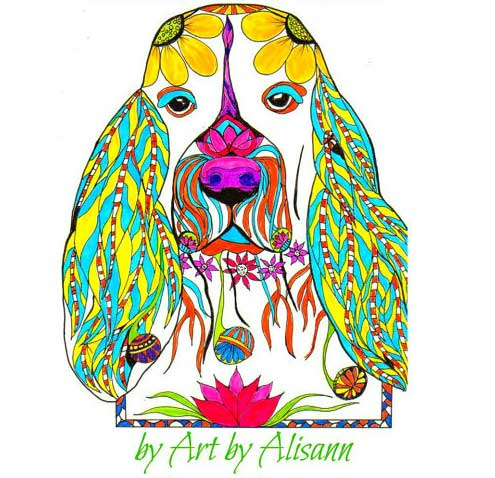 cute dog coloring book