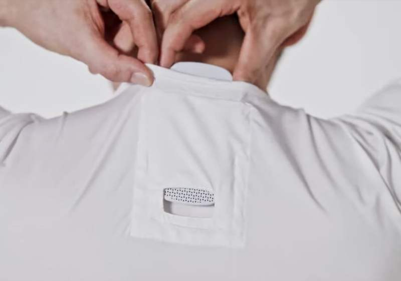La maglietta creata da Sony con il condizionatore incorporato