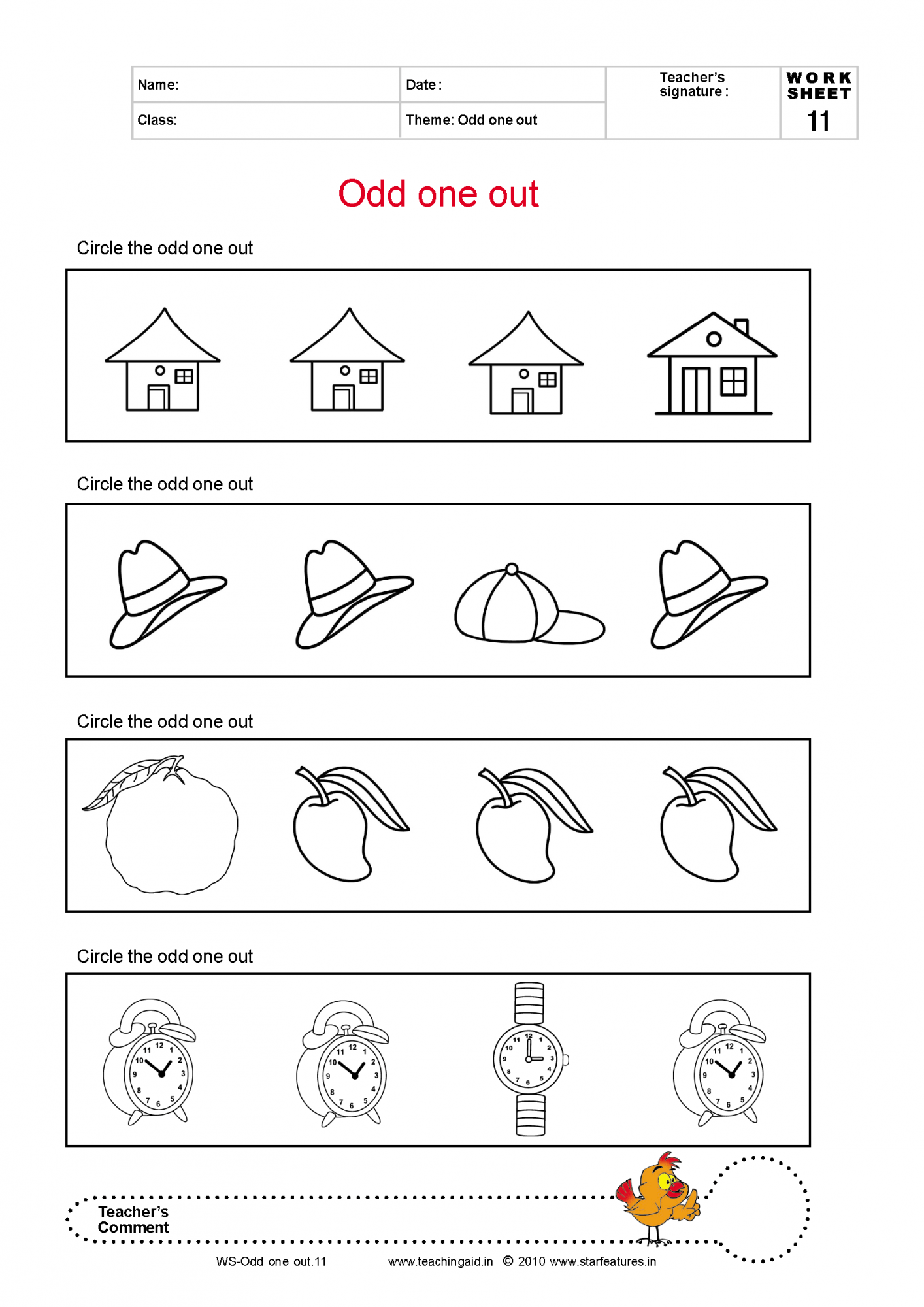 Basic Concepts Color Red Worksheet