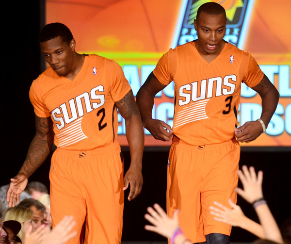 Phoenix Suns with short-sleeved jerseys