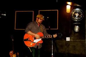 "Matt playing ""Unfolding"" live at the Beaterville Bar in Portland."