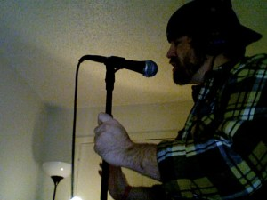 """Recording vocals for """"The Ghost"""""""