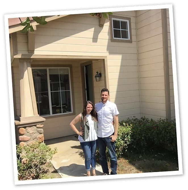 My wife and I as proud new homeowners. This is the day I became Bryan Bonwich, homeowner.