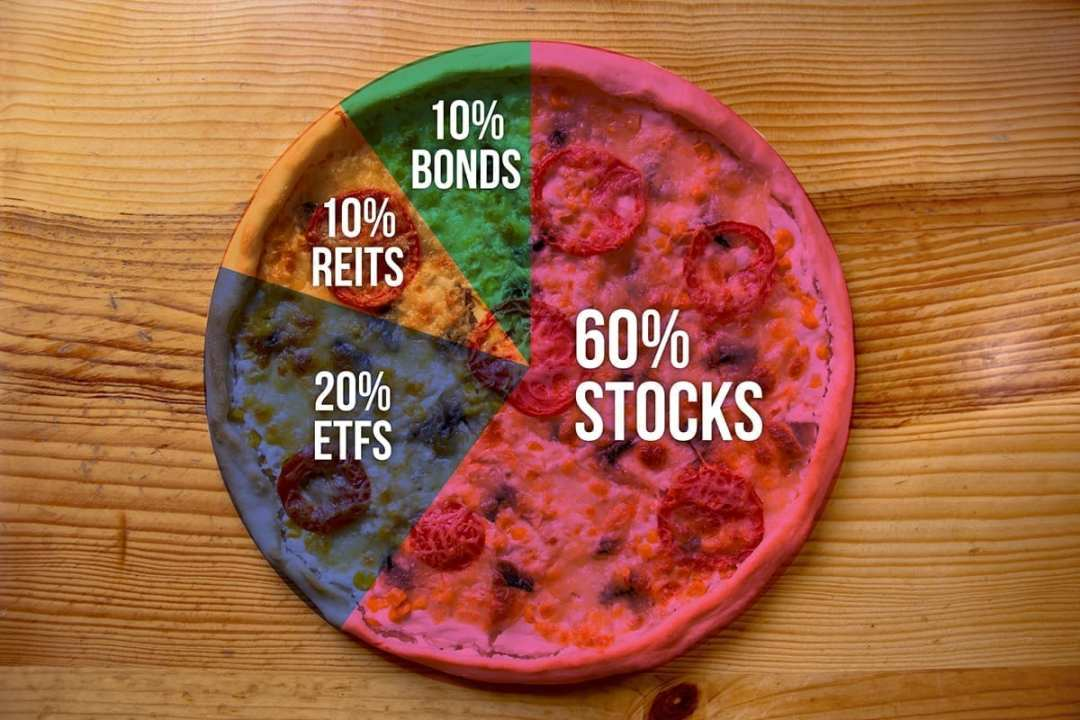 Portfolios and pizzas are the same. Not really, but each asset class in your portfolio makes up a slice. Add up the slices, and you have a whole pizza.