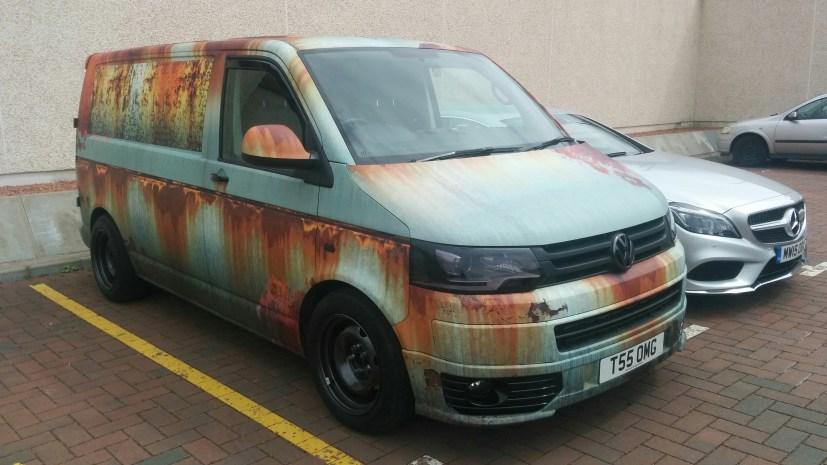 Rust Van Wrap Clyde Wraps Vehicle Graphics