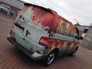 VW Transporter TDi Sportline Rusted Rat Rod Graphics Full Wrap