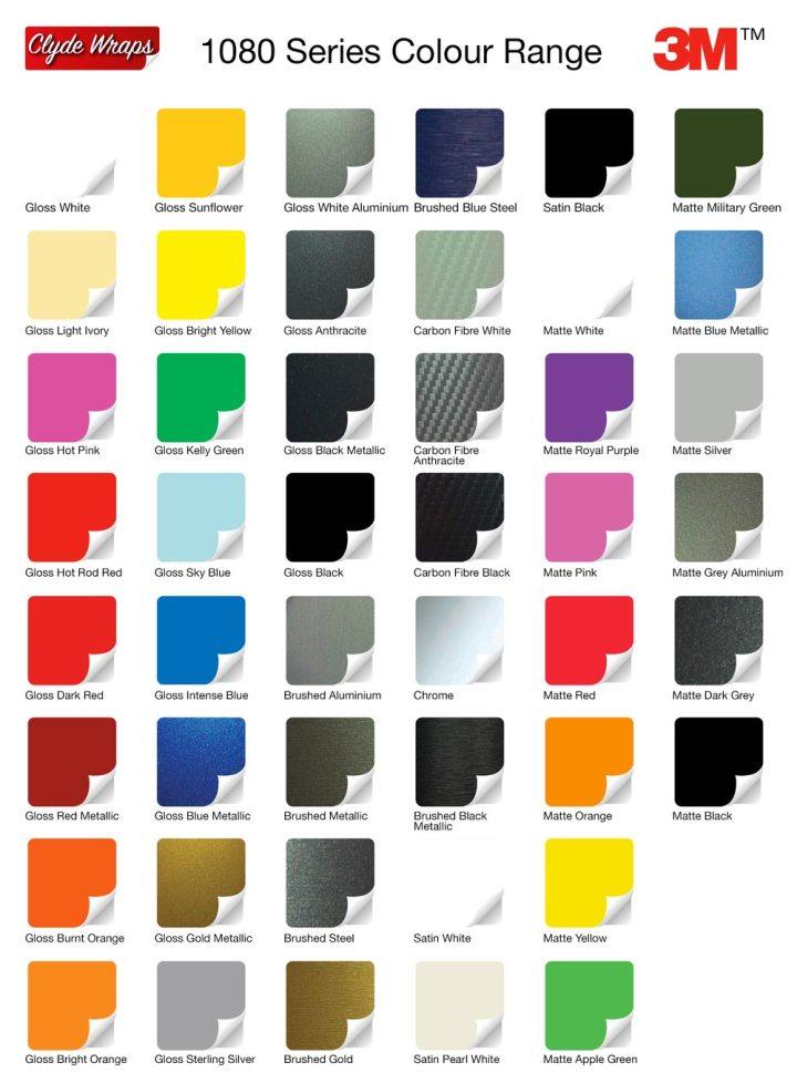 3m Vinyl Color Chart Todayss