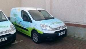 Horizon Renewable Energy Citroen Berlingo fleet full colour vinyl wraps