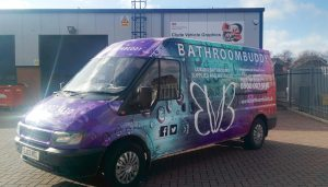 Bathroom Buddy Full Colour Digital Van Wrap