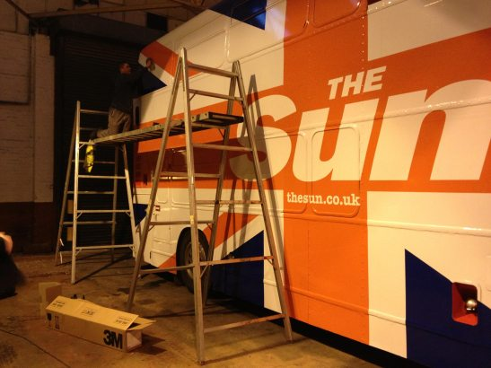 The Sun UK Tour Bus