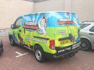 Mobile Engine Medic graphic design wrap