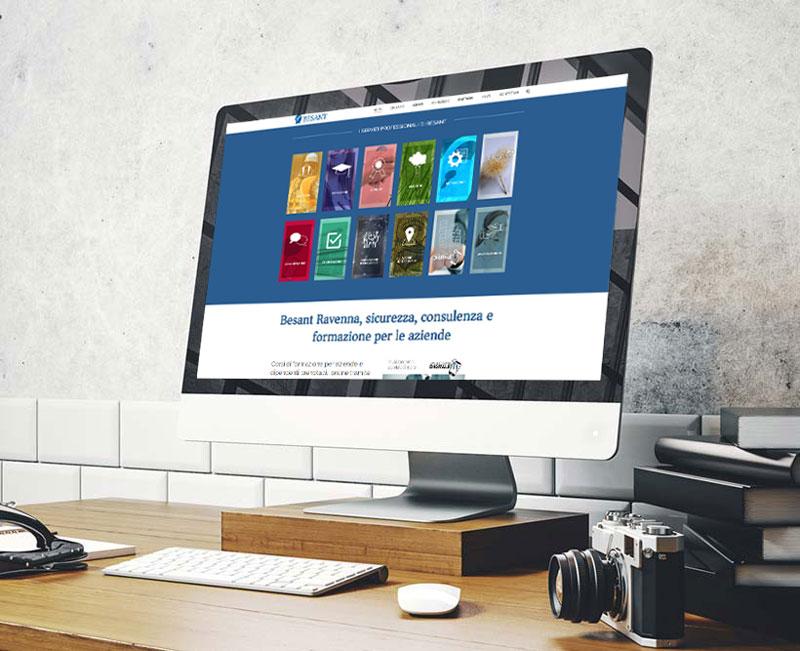 Besant sito web CM Comunicazione
