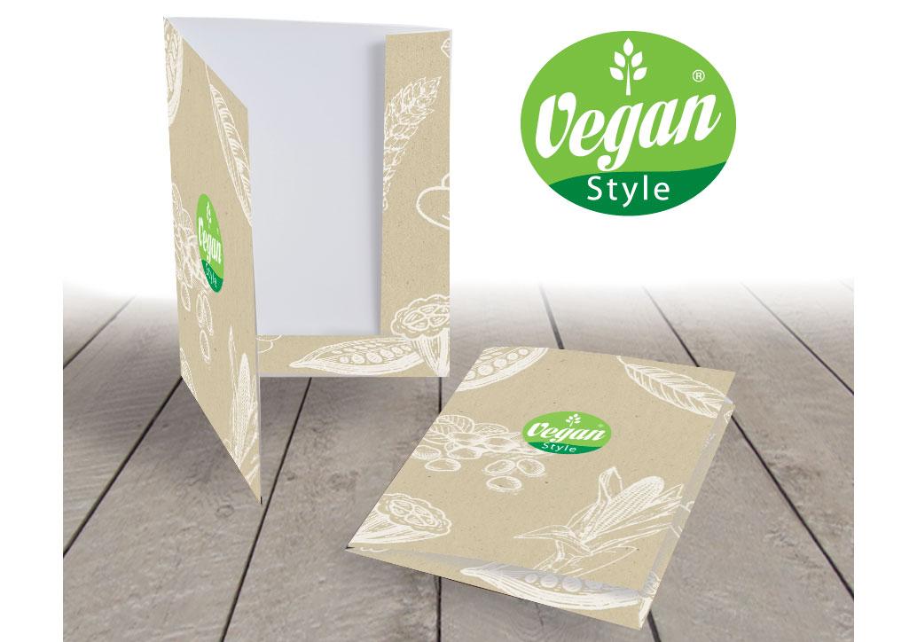 Cartelline Vegan Style CM Comunicazione