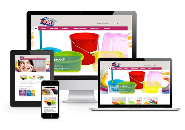 Sito web PICA CM Comunicazione