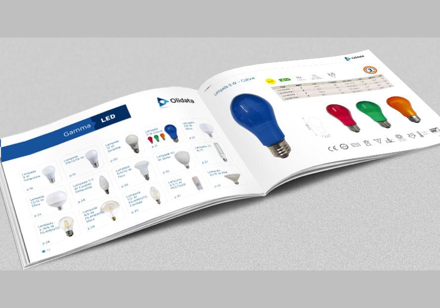Pieghevole prodotti Olidata CM Comunicazione