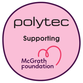 Polytec supporting the McGrath Foundation
