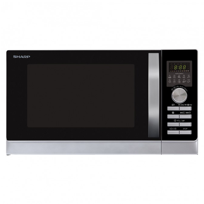 sharp r843inw free standing combination microwave oven with double grill