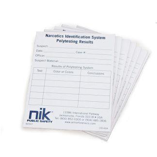 NIK P-10 Polytesting Report Pad
