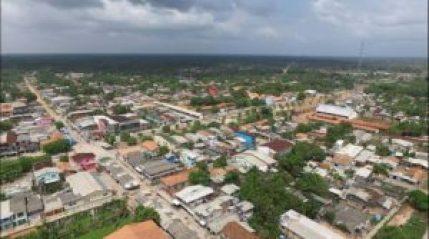 Vista aérea da cidade de Curralinho
