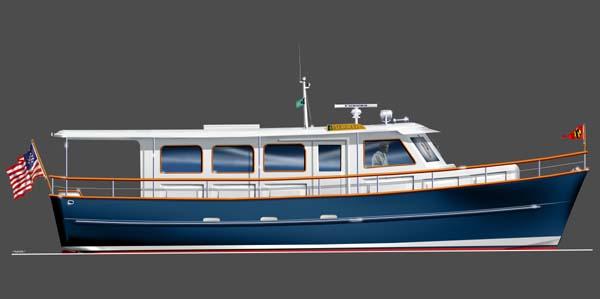 Aurora 40 Power Yacht Boat Plans Boat Designs