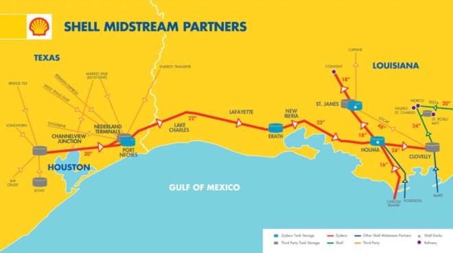 Figure 4: Shell Zydeco (Ho-Ho) pipeline