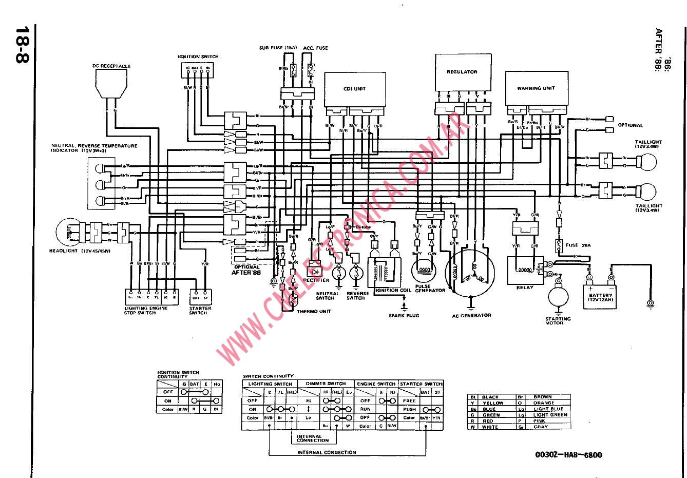 Honda Goldwing Wiring Diagrams