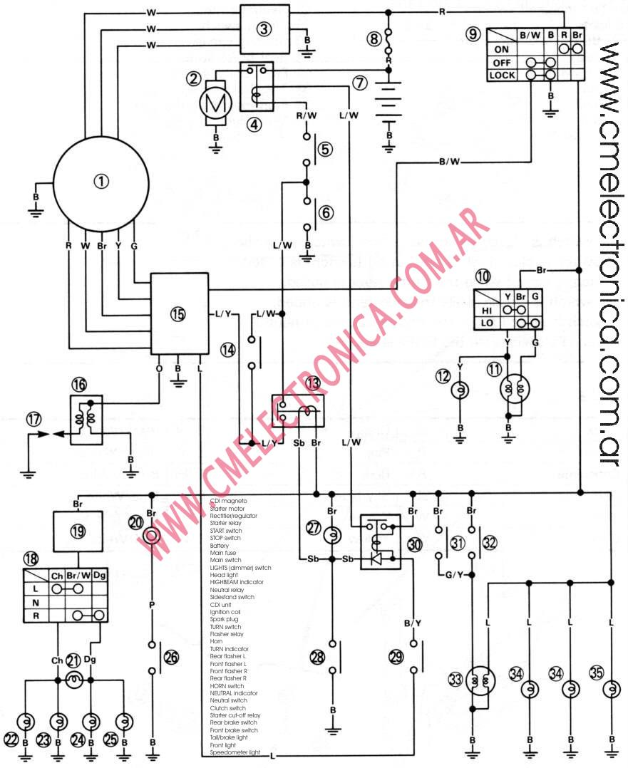 2005 xt225 wiring diagram images gallery