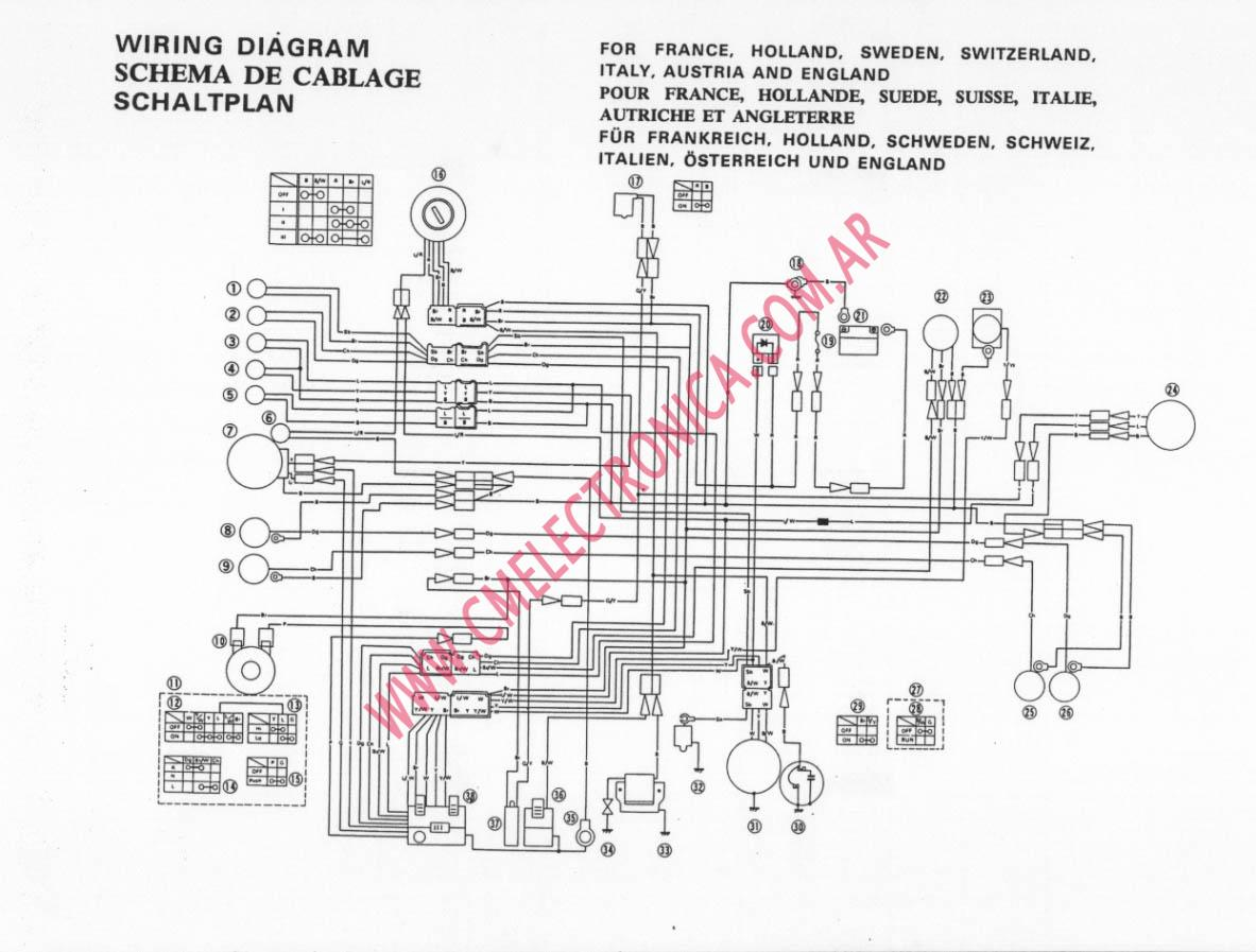 Yamaha xt wiring diagram rd