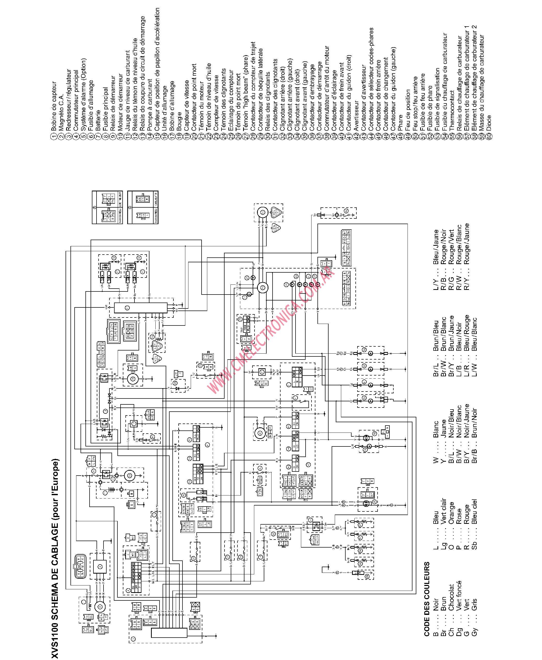 Diagrama Yamaha Xvs