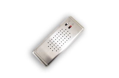 Button panels with porter speakerphone, bell button and intercom button