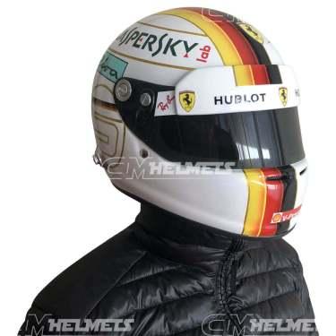 Sebastian-Vettel- 2018-Bahrein-GP- F1-Replica-helmet Full-Size-be-head
