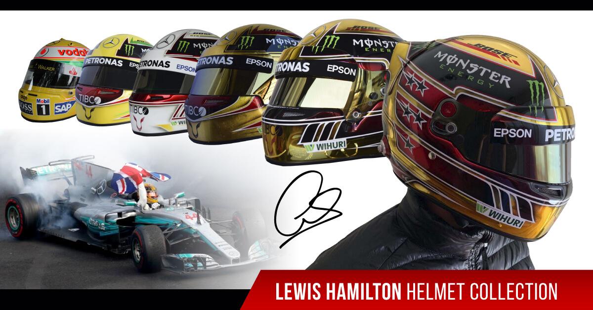 driver lewis hamilton f1 replica helmet