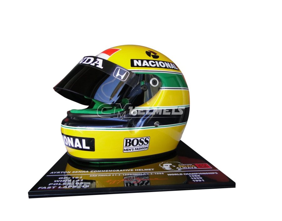 AYRTON-SENNA-1991-20-YEARS-COMMEMORATIVE-F1-REPLICA-HELMET-LIMITED-EDITION-4