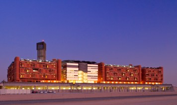 Masdar Institute at night.