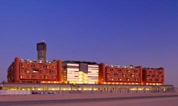 Masdar Institute at night.