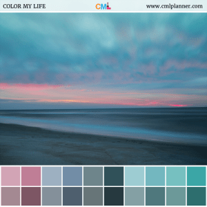 Sunset Beach - Color Inspiration from Color My Life