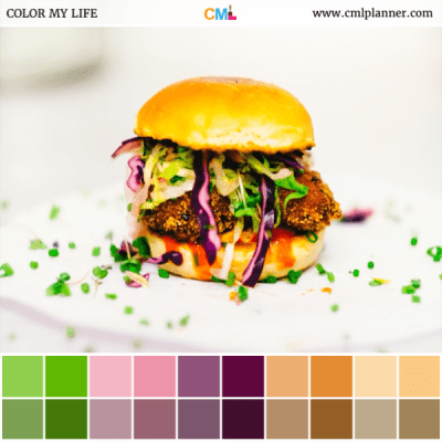 Food Art - Color Inspiration from Color My Life