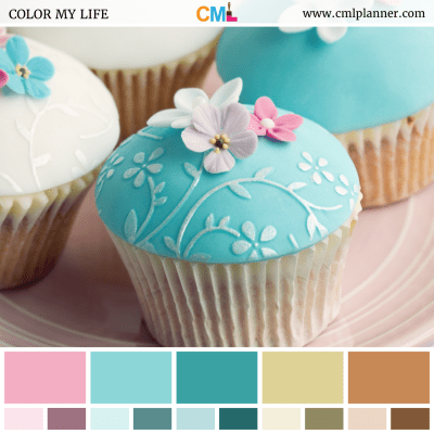 Wedding Cupcakes - Color Inspiration from Color My Life