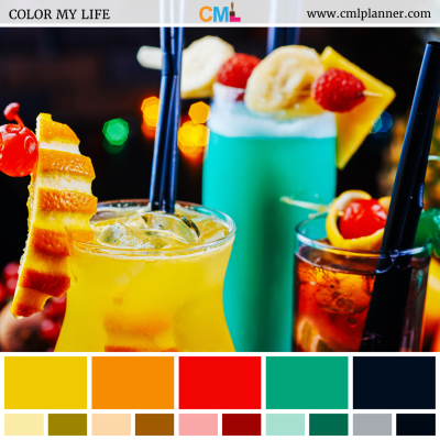 Colorful Cocktails - Color Inspiration from Color My Life