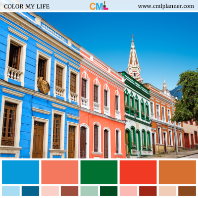 Colorful Facades - Color Inspiration from Color My Life